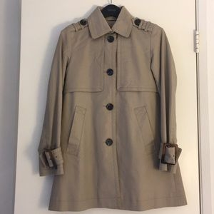 Kenneth Cole Flared Short Trench Jacket